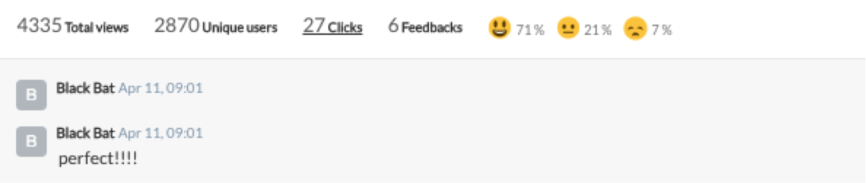use feedback and reactions with Beamer