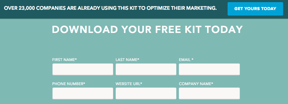 better converting landing page in signup forms