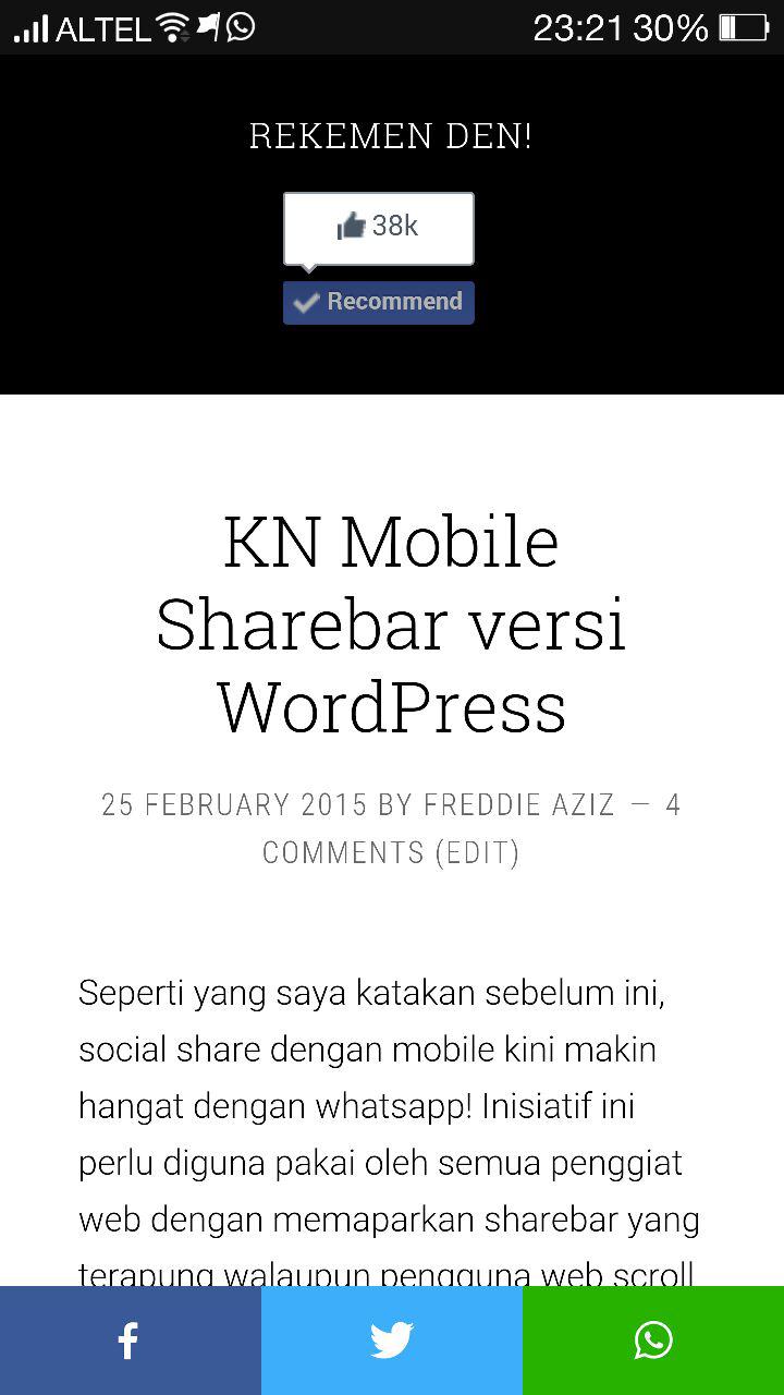 top 10 WordPress plugins Sharebar