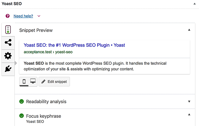 Manage SEO with Yoast SEO