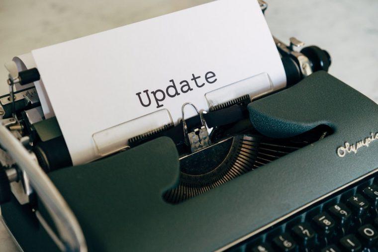 changelog to communicate updates