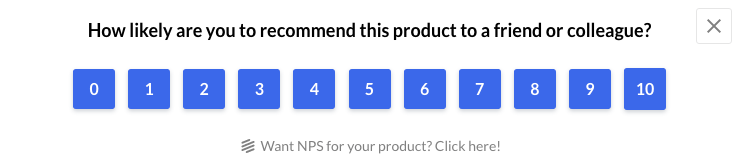 NPS for feedback loop